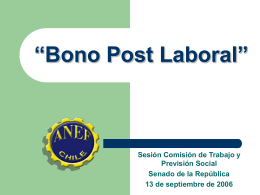 """Bono Post Laboral"""""""
