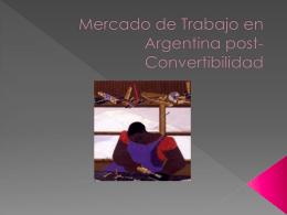 Mercado de Trabajo en Argentina post