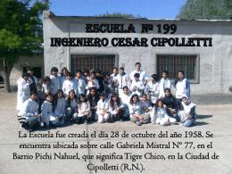 ESCUELA 199 ing. Cesar cipolletti