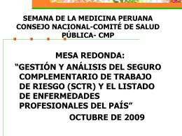 """I FORO """" CANCERES PROFESIONALES EN EL PERU"""