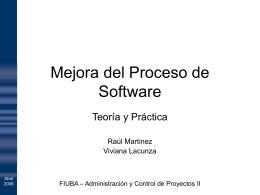 Mejora del Proceso de Software