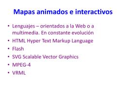 Mapas animados e interactivos