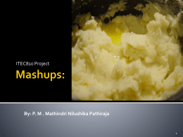 Mashups: - Macquarie University