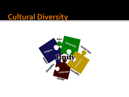 Cultural Diversity - Harrison High School