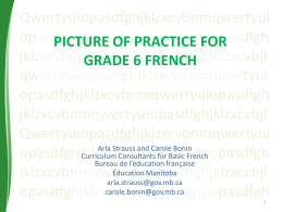 PICTURE OF PRACTICE FOR GRADE 6 Basic French