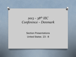 2013 – 38th IEC Conference – Denmark