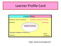 Learner Profile Card - Glynn County School District