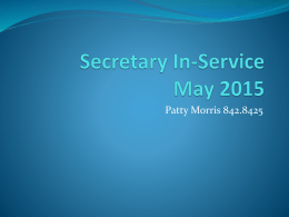 Secretary In-Service June 2010