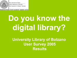 Do you know the digital library?