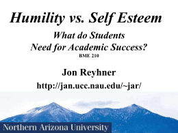 Identity & Success In Life (Including Academic Success)
