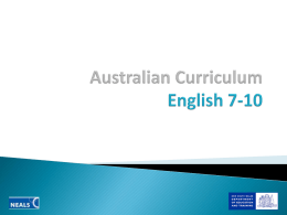 Australian Curriculum English 7-10