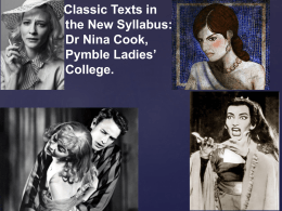 Classic Texts in the New Syllabus Presentation