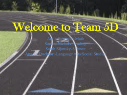 Welcome to 5D - Pearland Independent School District