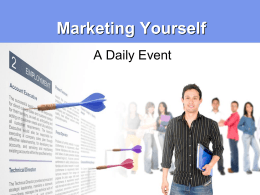 Marketing Yourself - Career and Technical Education (cteunt)