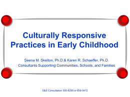Culturally Responsive Practices in Early Childhood …