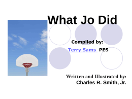 What Jo Did - Jefferson County