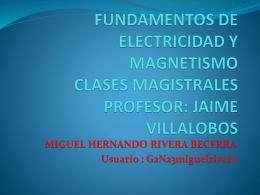 FUNDAMENTOS DE ELECTRICIDAD Y MAGNETISMO …