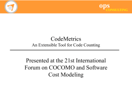 CodeMetrics An Extensible Tool for Code Counting