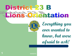 District 23 B Vice President's Club