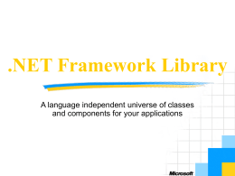 .NET Framework Library - Johannes Kepler University Linz