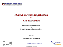 Shared Services Transformation Scenarios