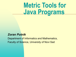 Metric Tools for Java - hu
