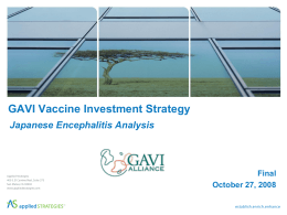 Vaccine Investment Strategy - Japanese Encephalitis Analysis
