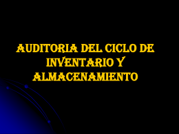 AUDITORIA DEL CICLO DE INVENTARIO Y …