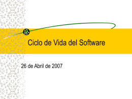 Ciclo de Vida del Software