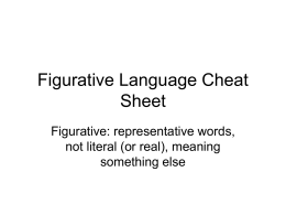 Figurative Language Cheat Sheet