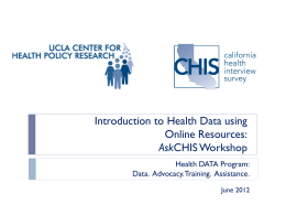 Introduction to Health Data Using Online Resources