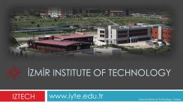 İZMİR INSTITUTE OF TECHNOLOGY