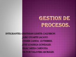 GESTION DE PROCESOS.