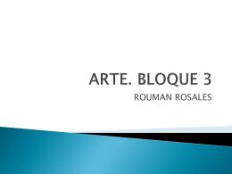 ARTE. BLOQUE 3