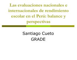 Las evaluaciones nacionales e internacionales de