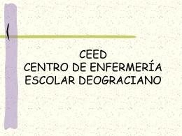 CEED CENTRO DE ENFERMERIA ESCOLAR DEOGRACIANO
