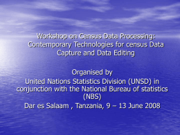 Presentation by - Statistics Division