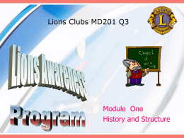 The Objects of Lions Clubs International