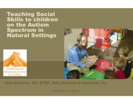 Teaching Social Skills in Natural Settings