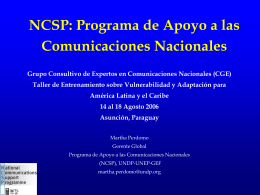 Second National Communications
