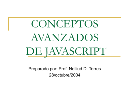 CONCEPTOS INTRODUCTORIOS DE JAVASCRIPT