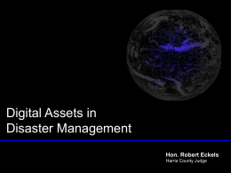 Digital Assets in Disaster Management