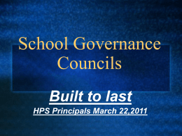 School Governance Councils - Leadership Greater Hartford