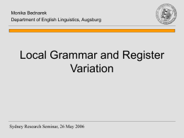 Local grammar and register variation