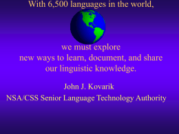 Unlocking and Sharing LTCL Linguistic Knowledge