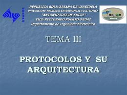 TEMA II PROTOCOLOS Y ARQUITECTURA