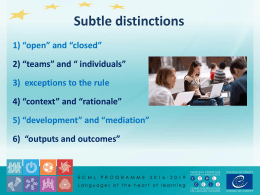 Subtle distinctions - European Centre for Modern Languages