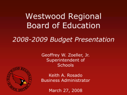 Westwood Regional School District: State of the District