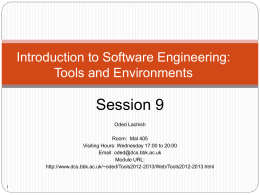 Introduction to Software Engineering: Tools and …
