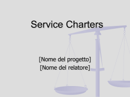 Service Charters